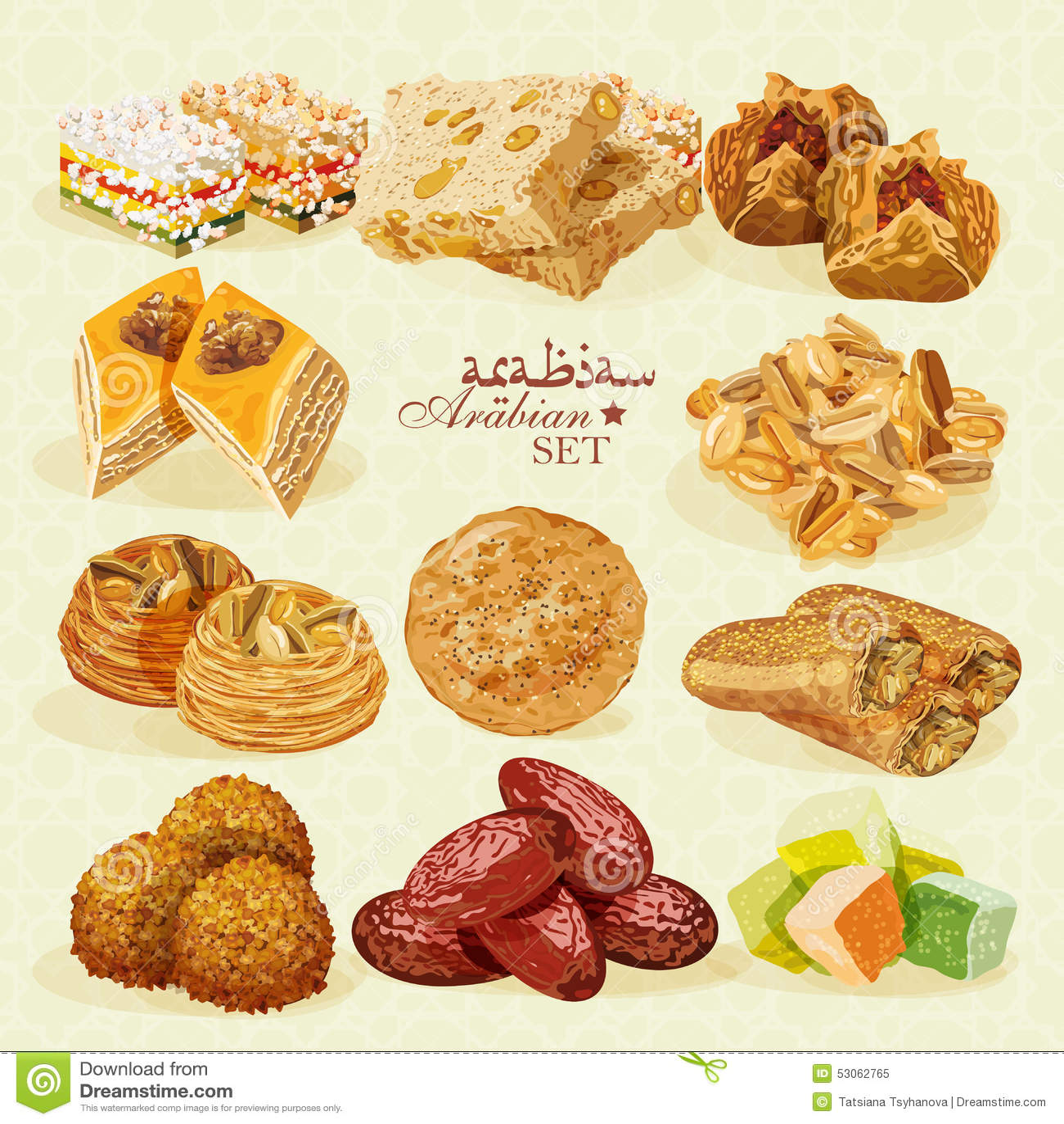 Nourriture arabe ensemble de desserts orientaux photo for Cuisine orientale