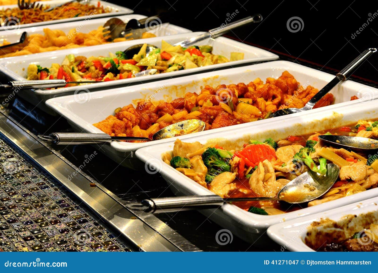 Nourriture asiatique mélangée
