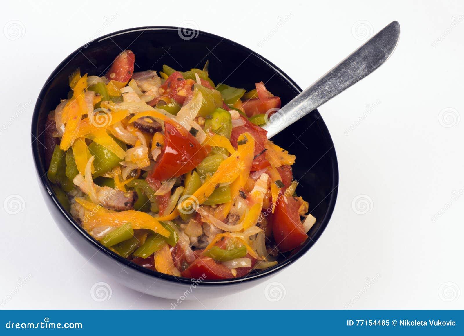 Nourriture avec des légumes