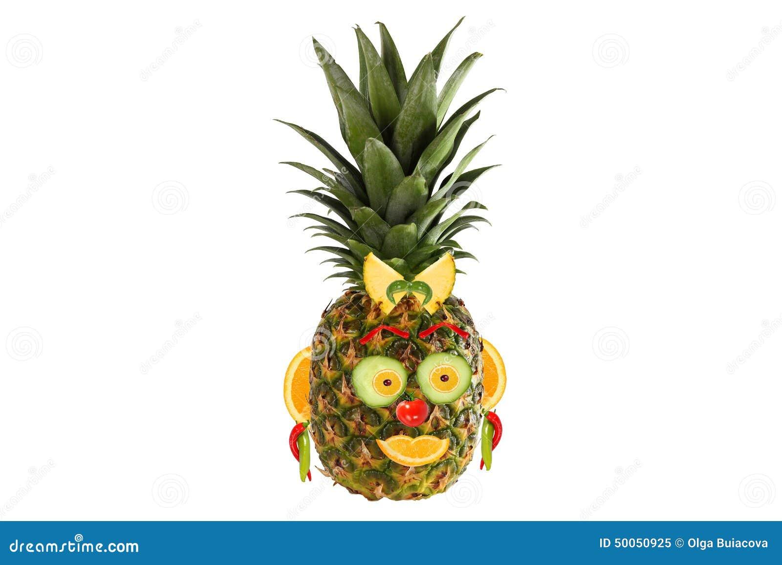 Nourriture cr atrice portrait fait de l gumes et fruits illustration stock image 50050925 - Fruits et legumes de a a z ...