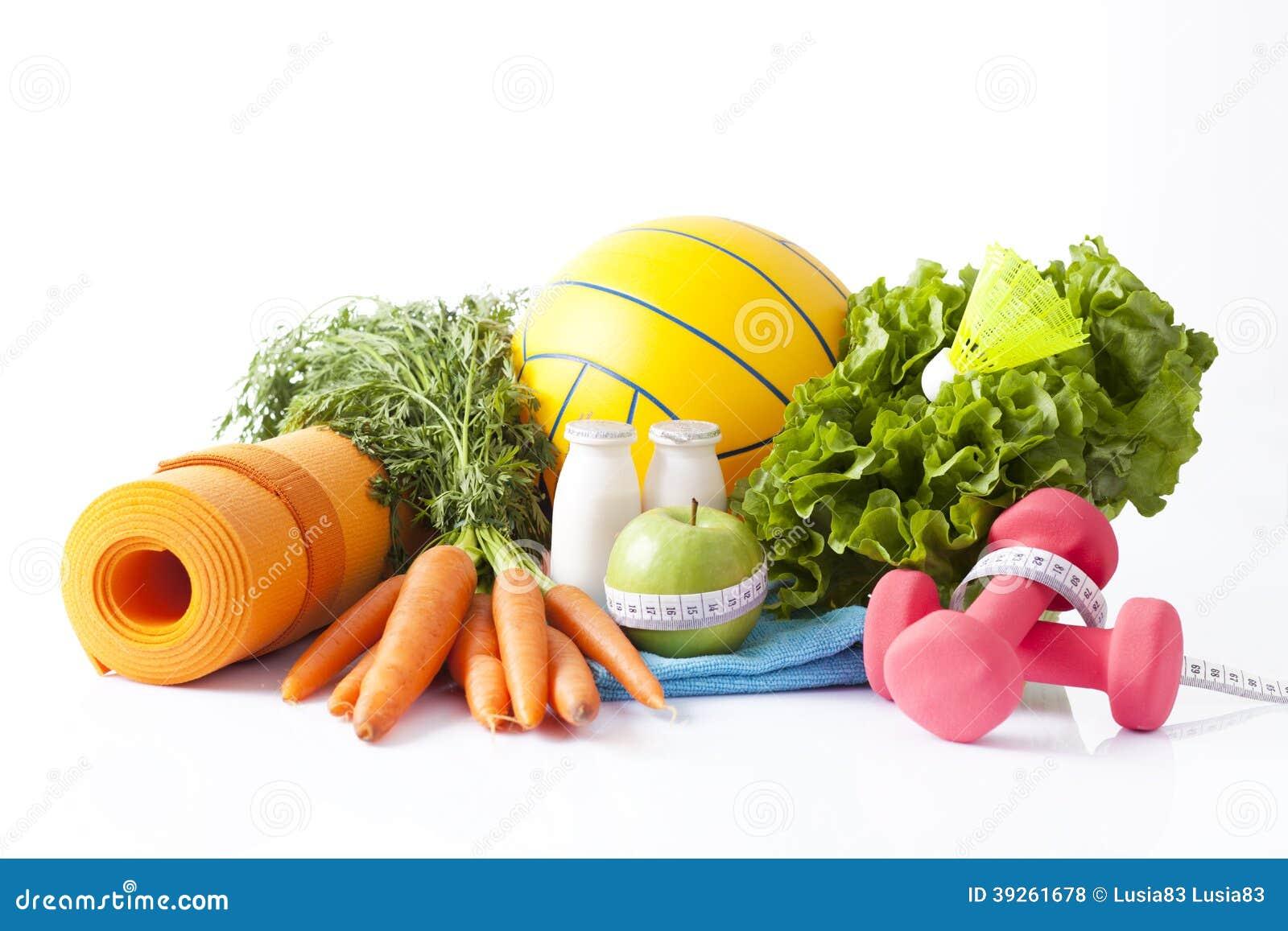 Nourriture de forme physique et concept d 39 activit de sport photo stock image 39261678 - Cuisine soort ...