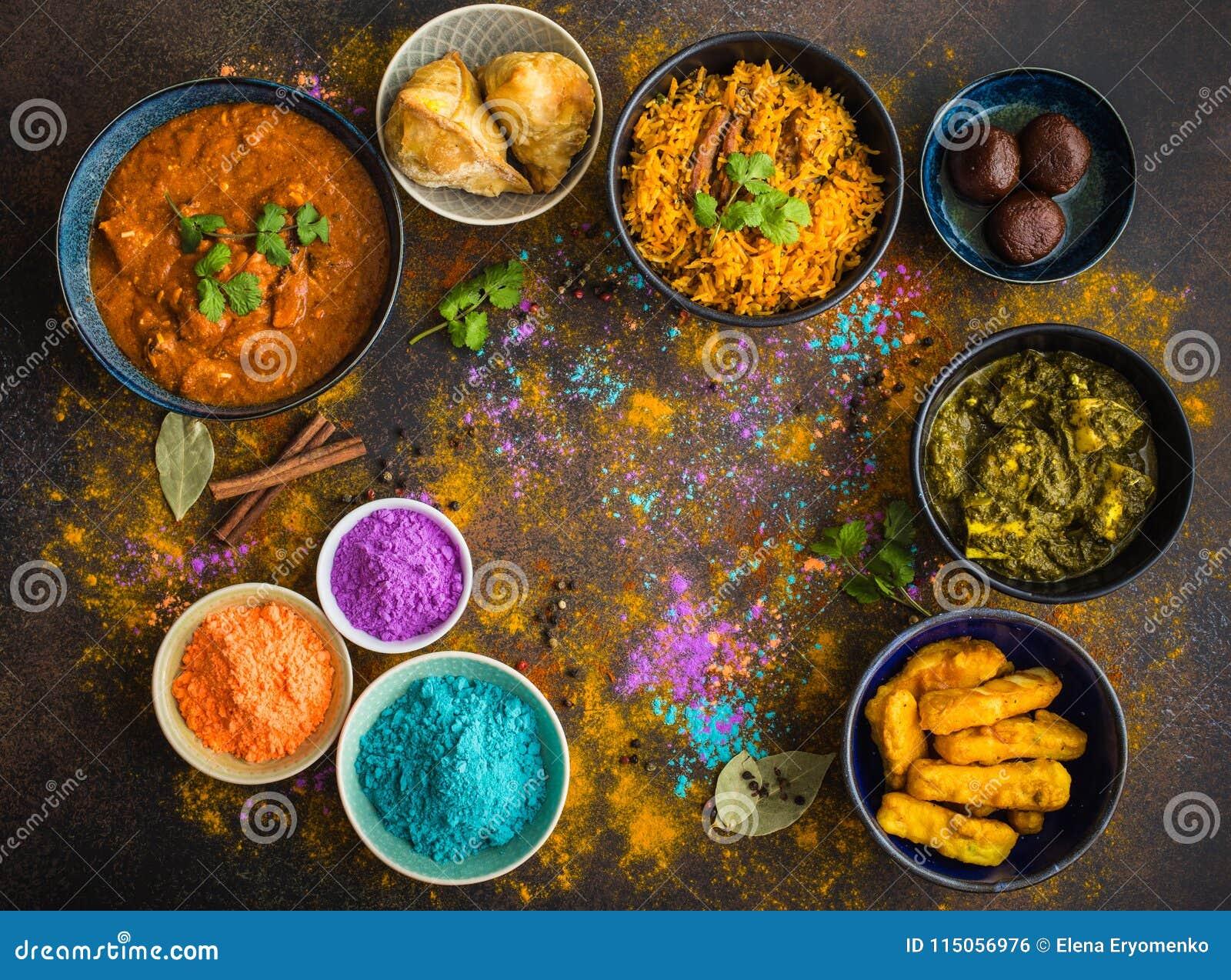 Nourriture de Holi d Indien