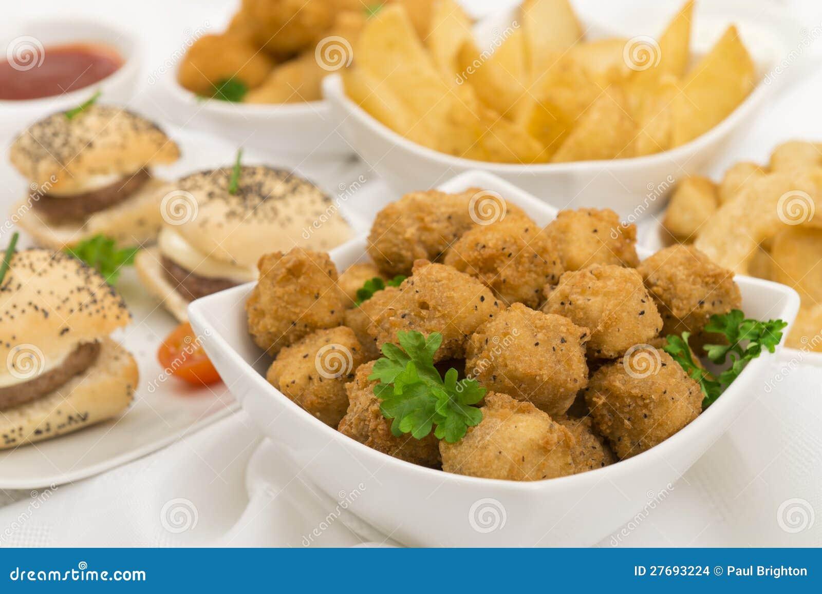 Nourriture de réception