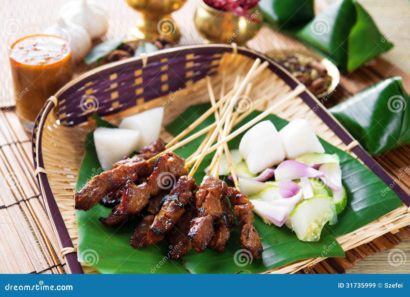 Nourriture de Satay Indonésie