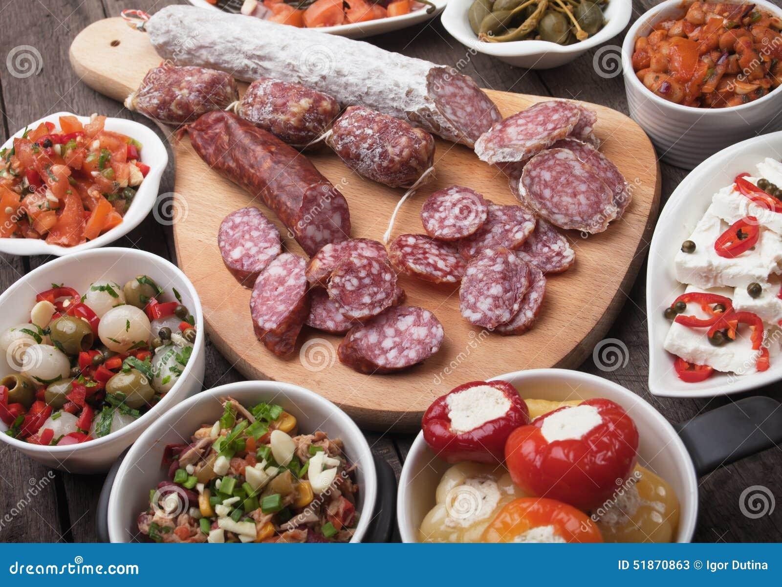 Nourriture espagnole de tapas image stock image du - Cuisine espagnole tapas ...