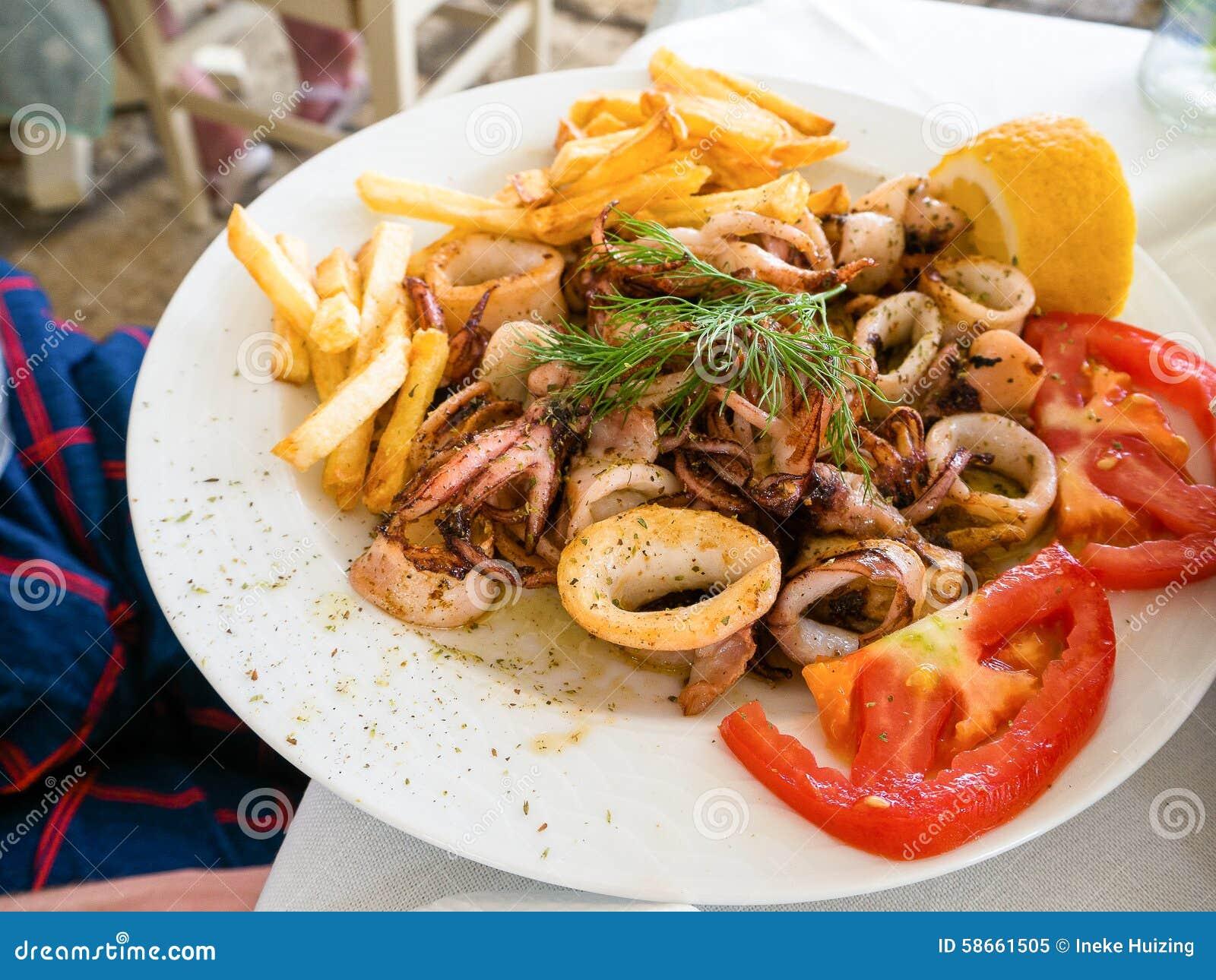 Nourriture grecque image stock image du cuisine restaurant 58661505 - Cuisine grecque traditionnelle ...