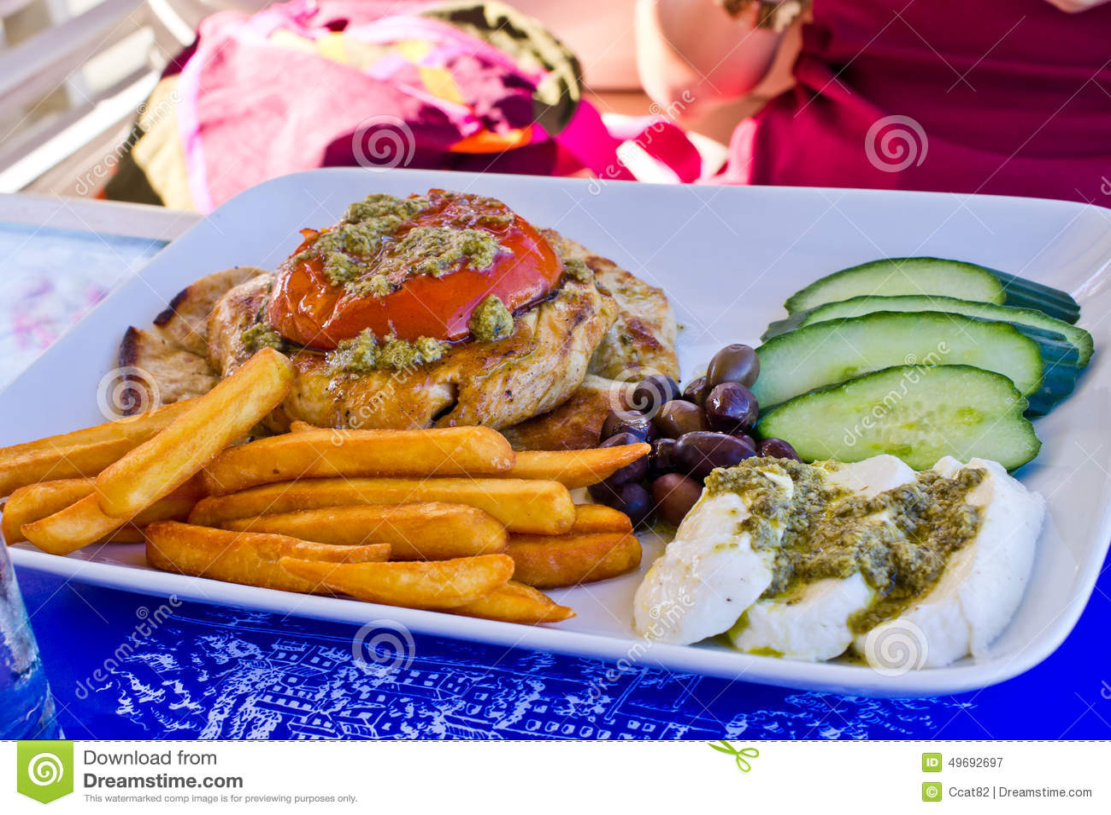 Nourriture grecque traditionnelle image stock image du porc d licieux 49692697 - Cuisine grecque traditionnelle ...