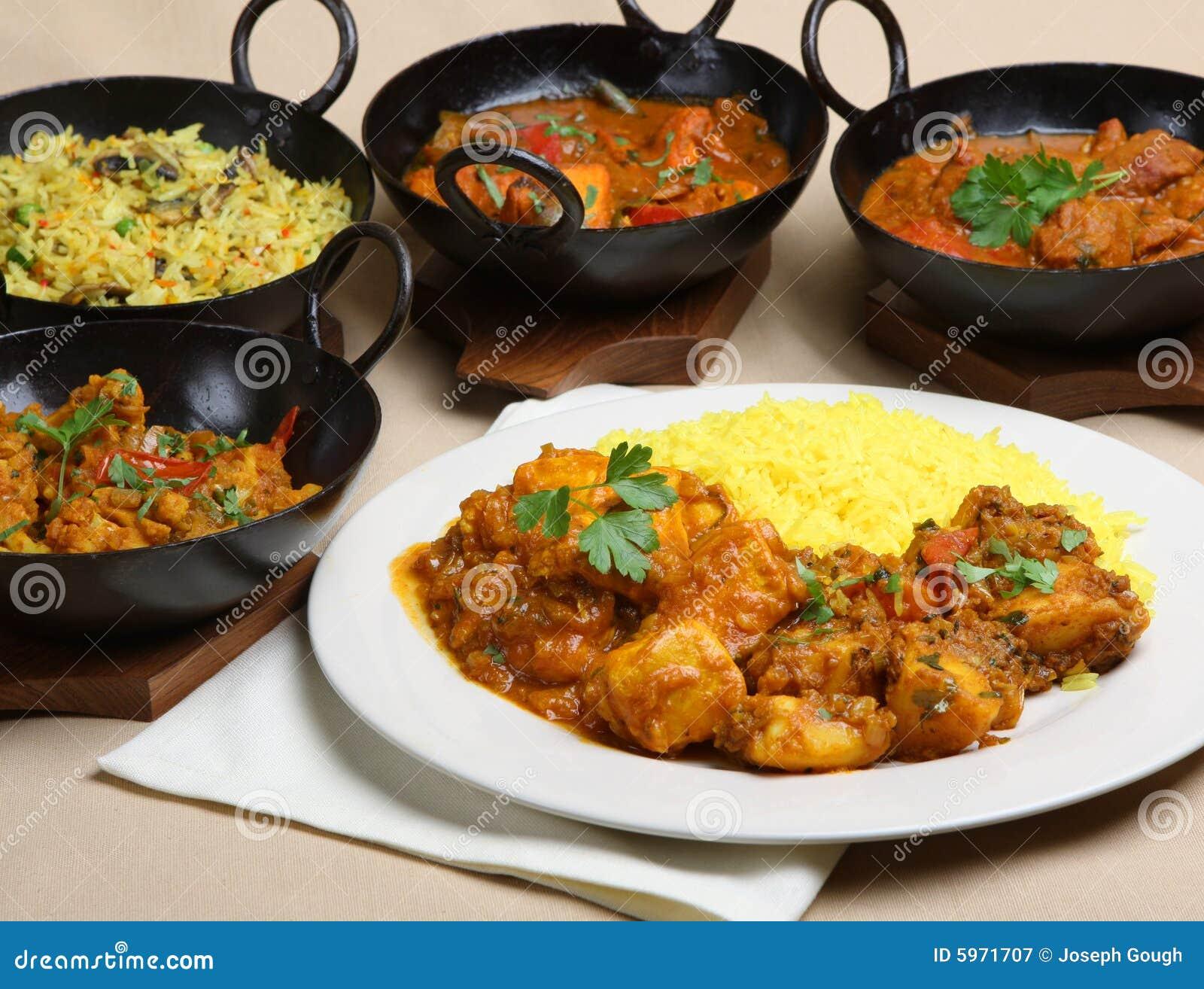 Nourriture indienne de repas de cari