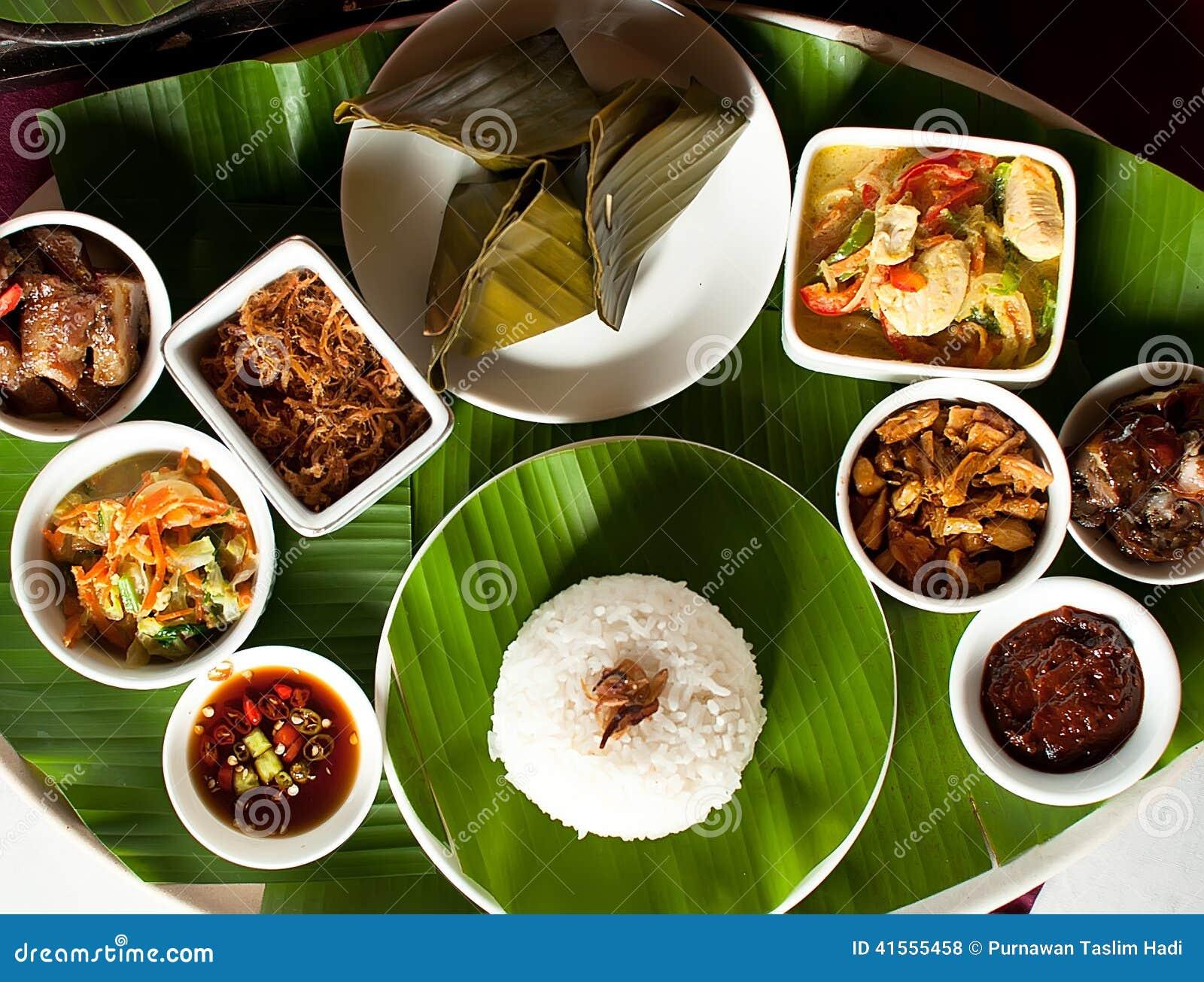 Nourriture indonésienne dans bali