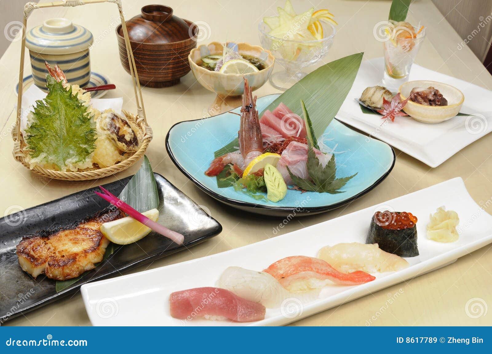 Nourriture japonaise image stock image du diner fine for Poisson japonais nourriture