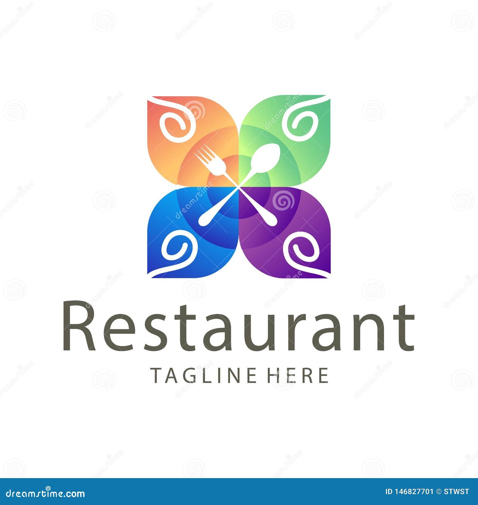 Nourriture ?l?gante de restaurant et conception de logo de boissons