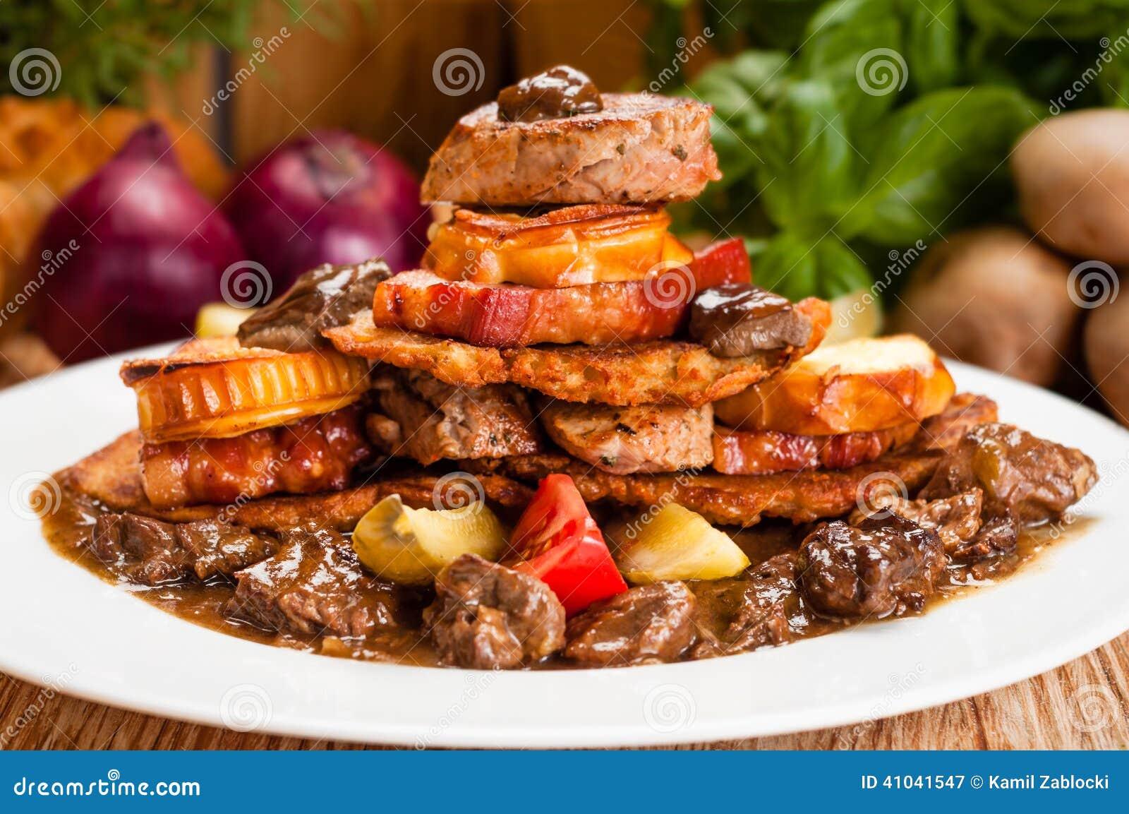 nourriture malsaine grasse image stock image du potato 41041547. Black Bedroom Furniture Sets. Home Design Ideas