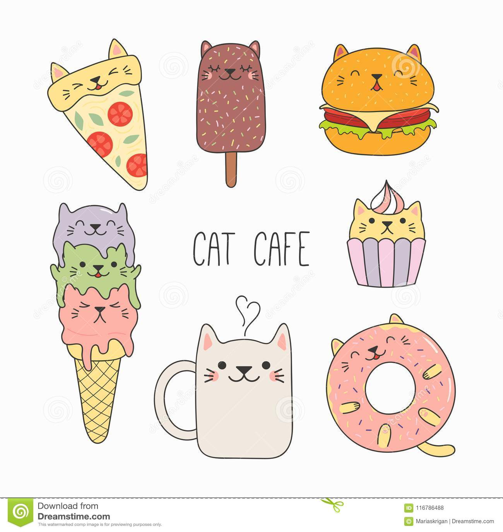 Nourriture mignonne avec des oreilles de chat