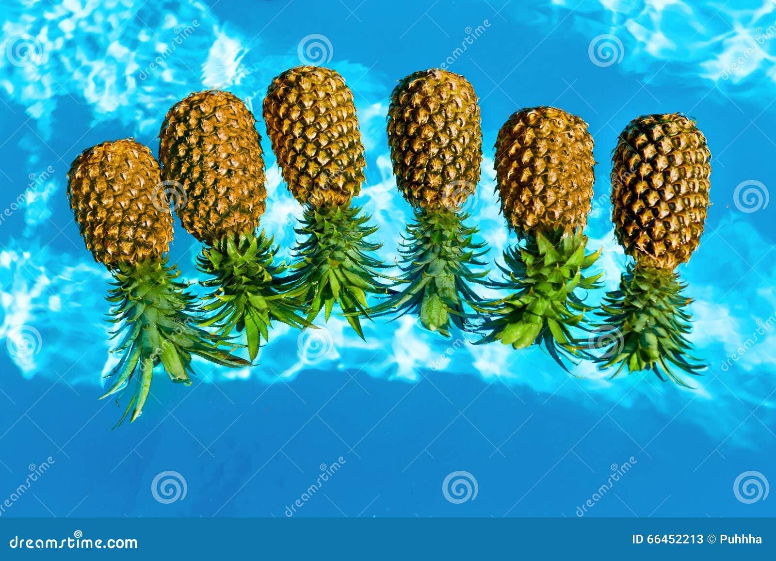 nourriture saine ananas organiques frais dans l 39 eau fruits nutriti photo stock image 66452213. Black Bedroom Furniture Sets. Home Design Ideas
