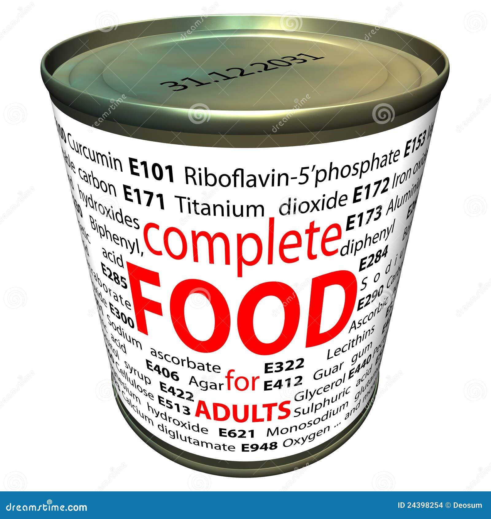 Nourriture saine et chimie - additifs