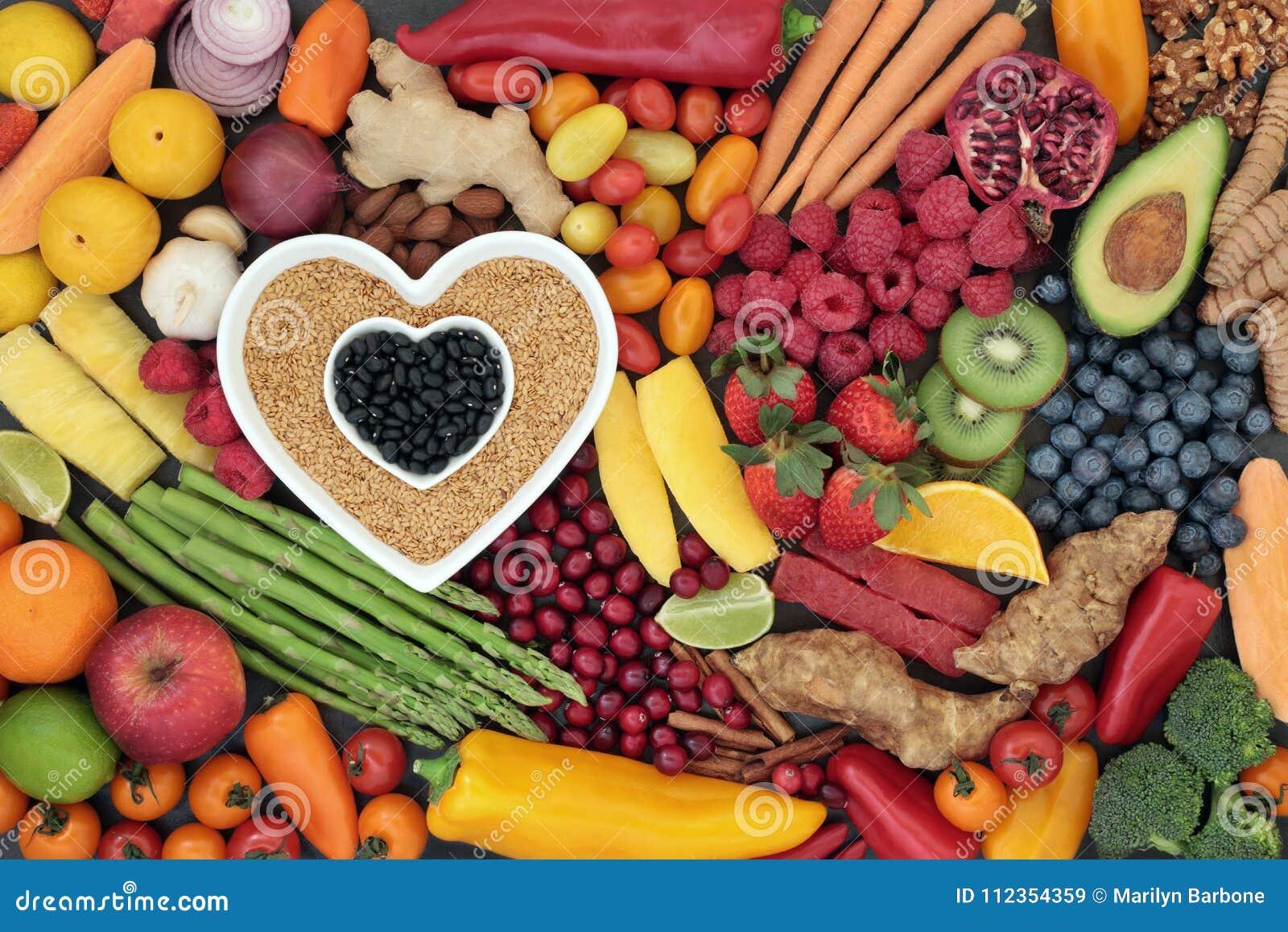 Nourriture superbe de coeur sain