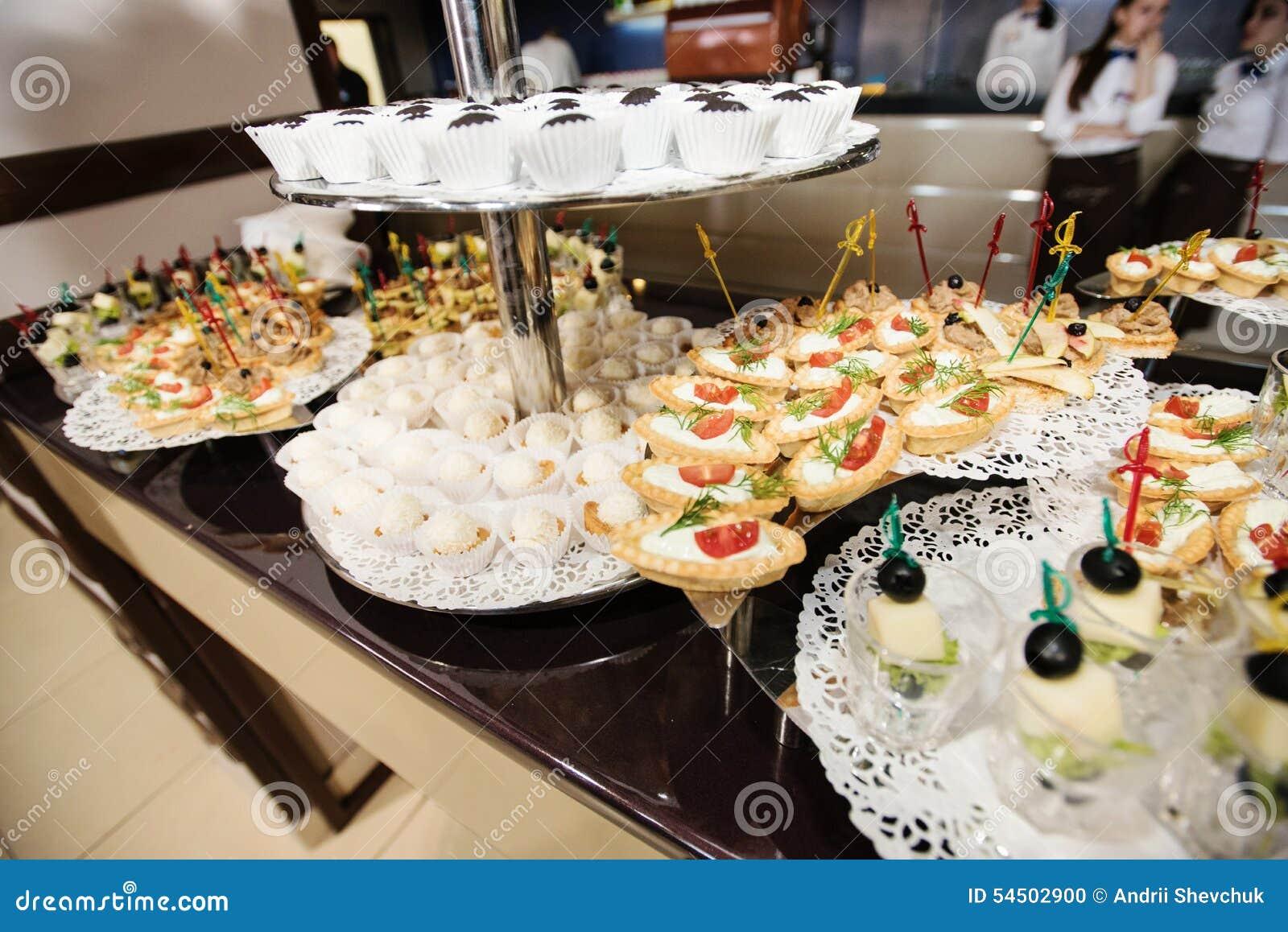 Nourriture sur la réception de mariage