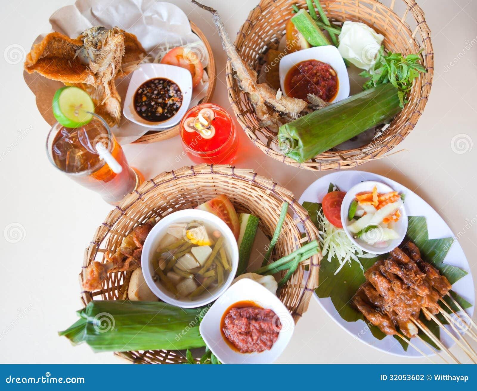 Nourriture traditionnelle de bali photographie stock for Nourriture de poisson