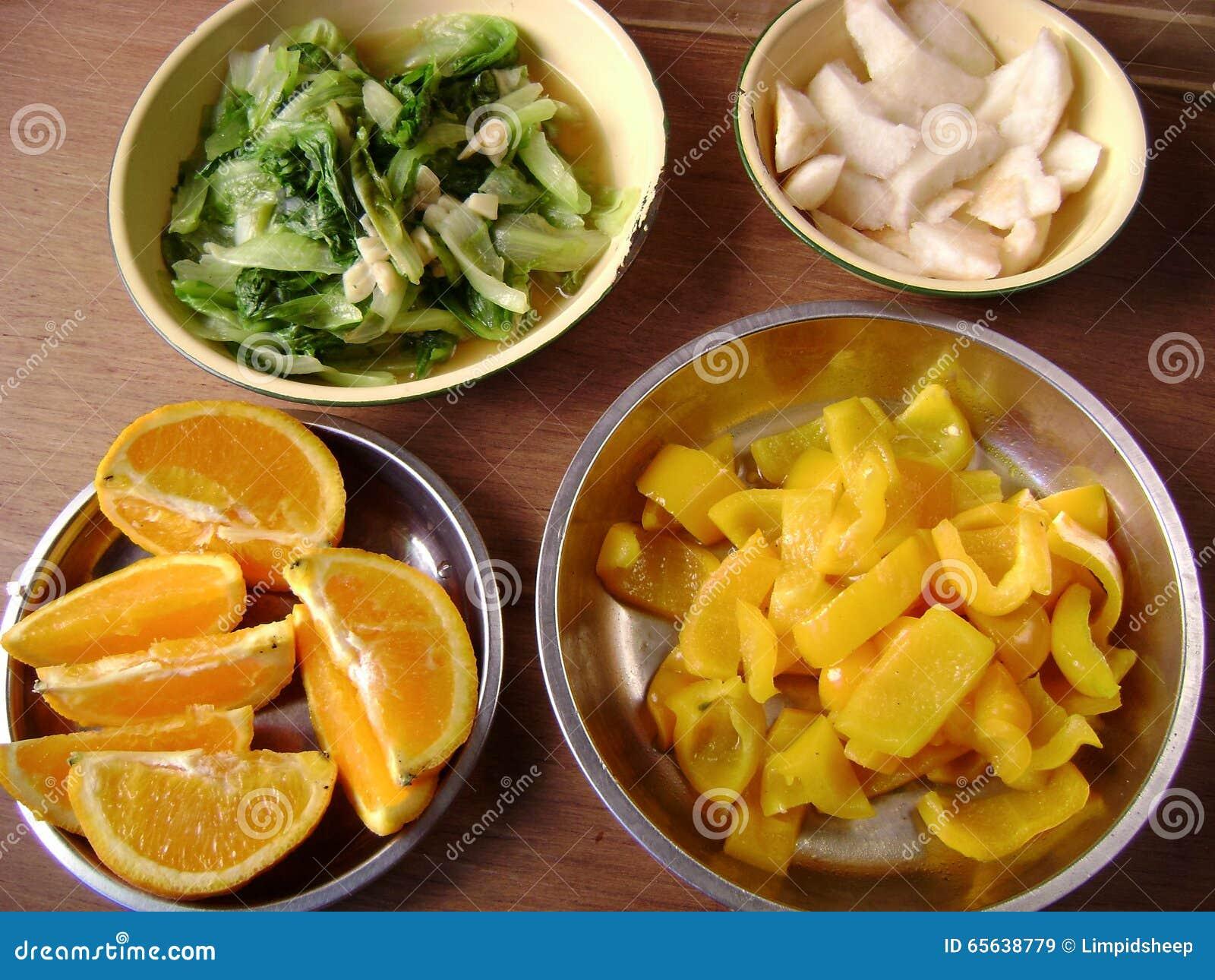 Nourriture végétarienne faite maison chinoise