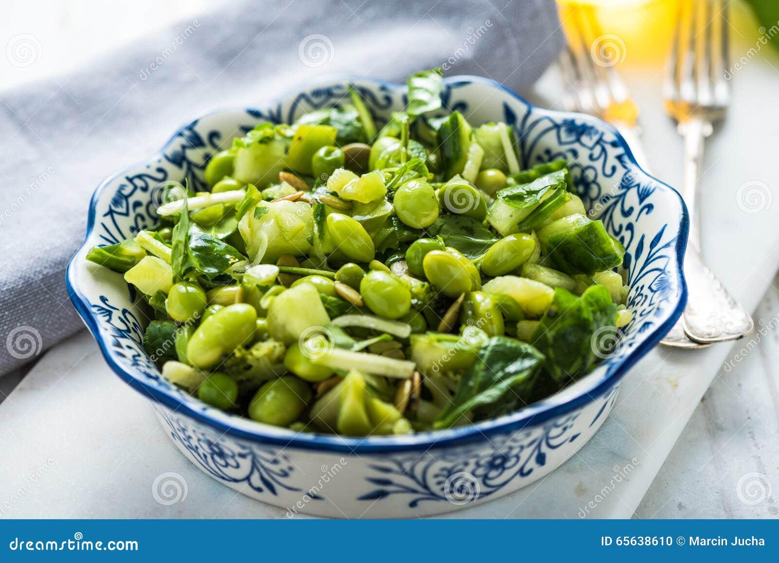 Nourriture verte superbe, salade saine