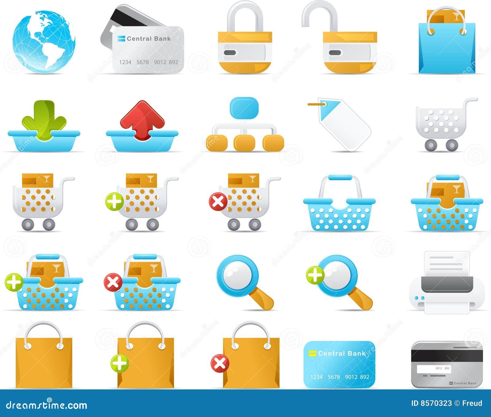 Nouve icon set: Internet and e-Commerce