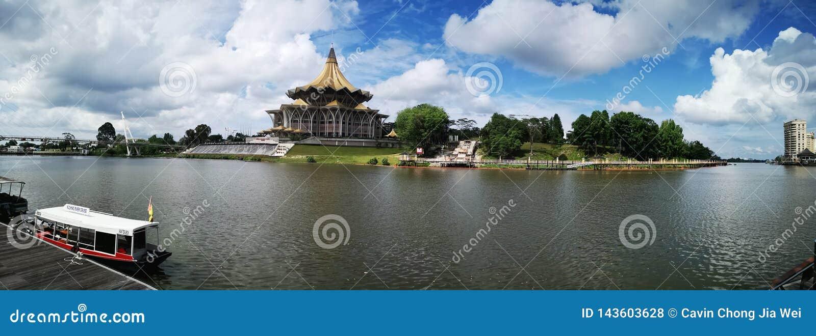 Nouveau b?timent du parlement de Sarawak, Malaisie
