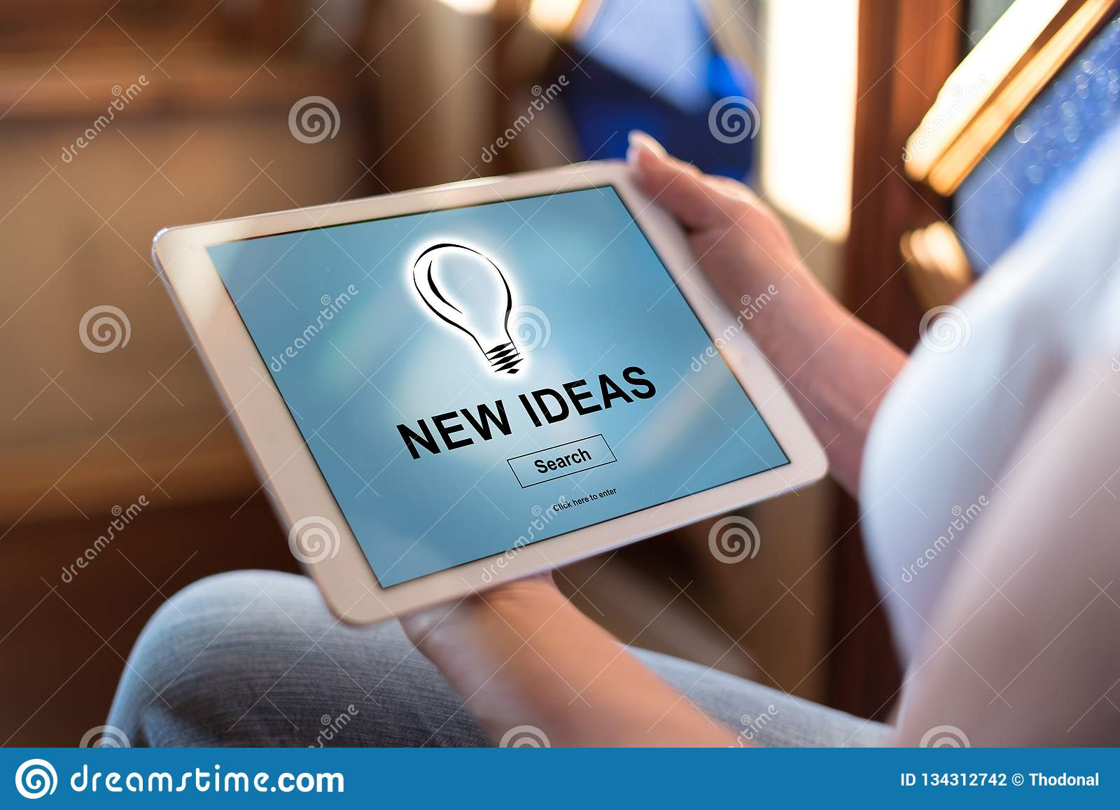 Nouveau concept d idées sur un comprimé