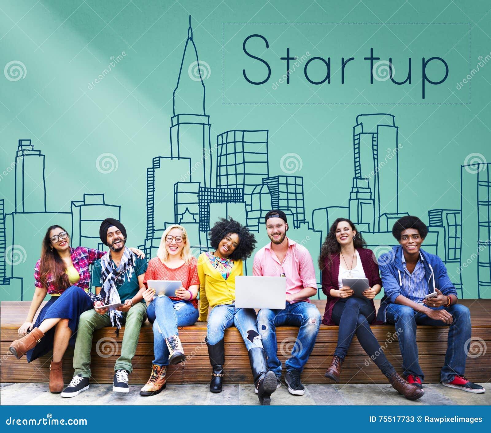 Nouveau concept de démarrage de lancement de stratégie de vision d affaires