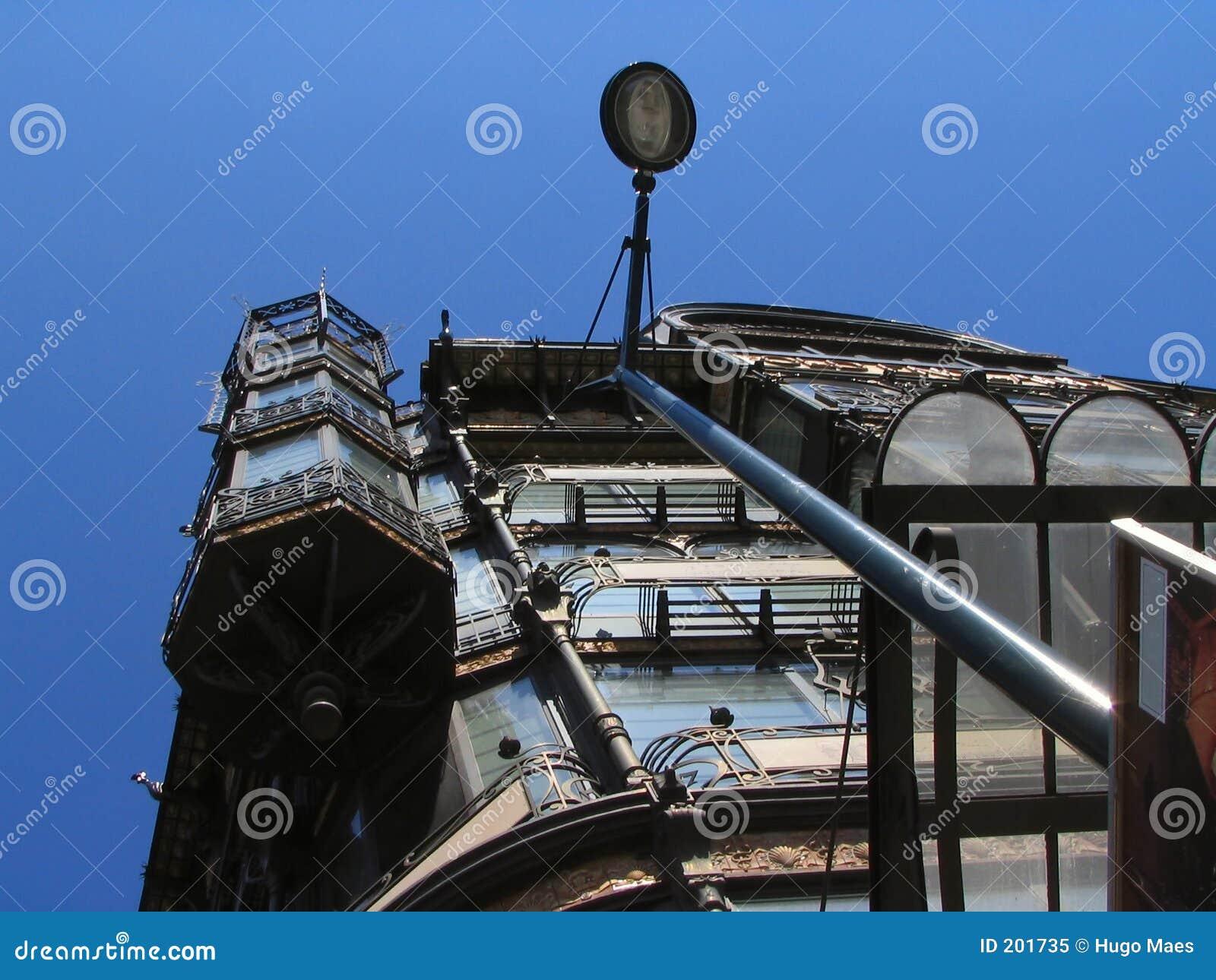 Nouveau för facade för konstbrussels byggnad