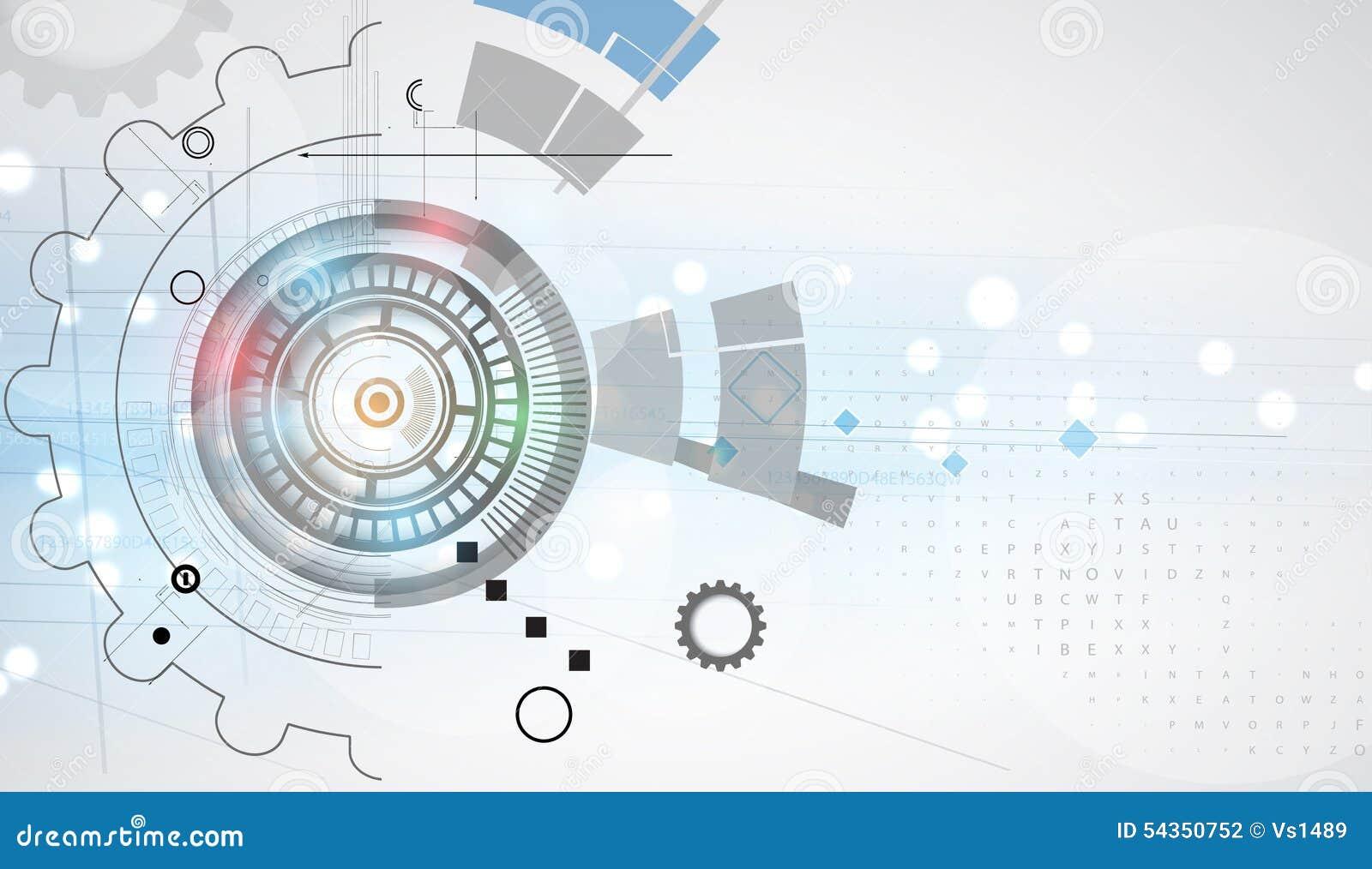 Nouveau futur fond d abrégé sur concept de technologie