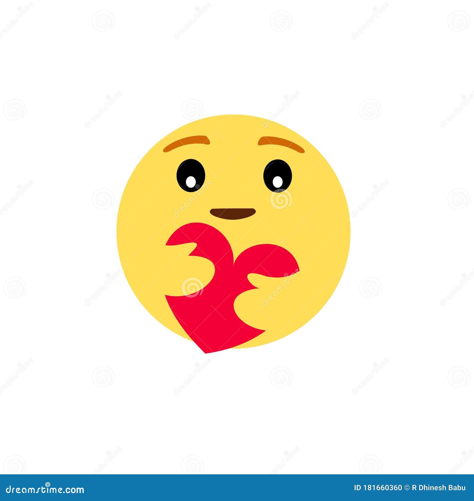 Nouveau Soin Emoji Facebook Emoji Illustration Stock Illustration Du Emoji Soin 181660360