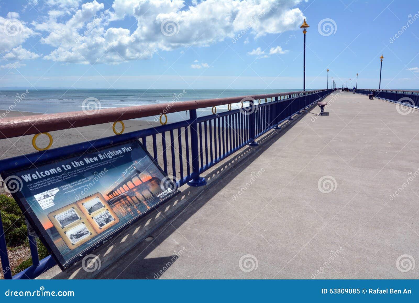 Nouveaux Brighton Pier Christchurch - Nouvelle-Zélande