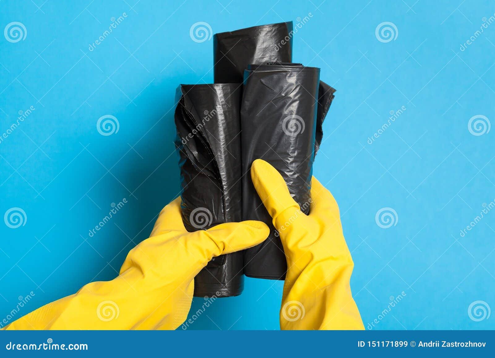 Nouveaux sacs de d?chets, conteneur de coupage noir