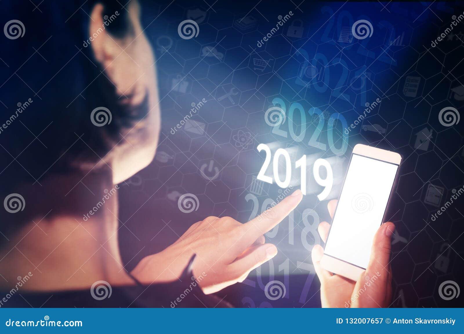 Nouvel 2019 ans dans de pointe