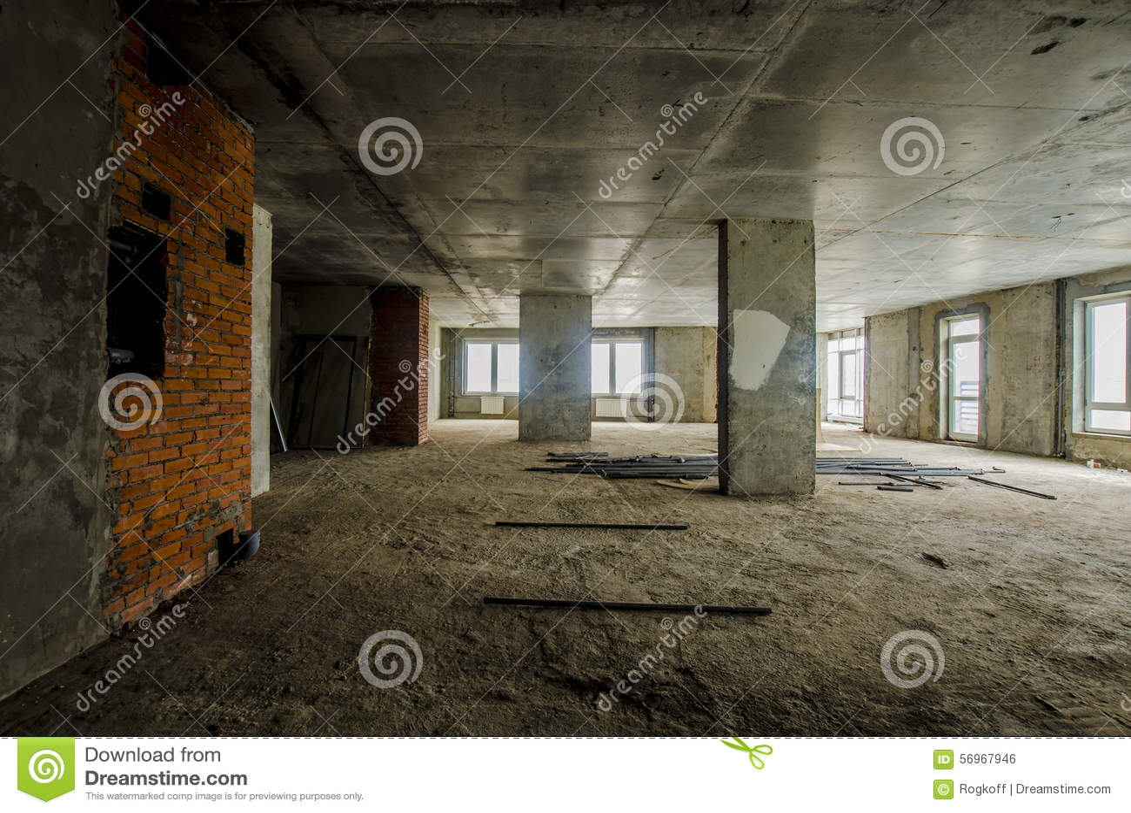 Nouvel appartement r sidentiel sans finir dans la maison moderne murs en b to - Nouvel an a la maison ...
