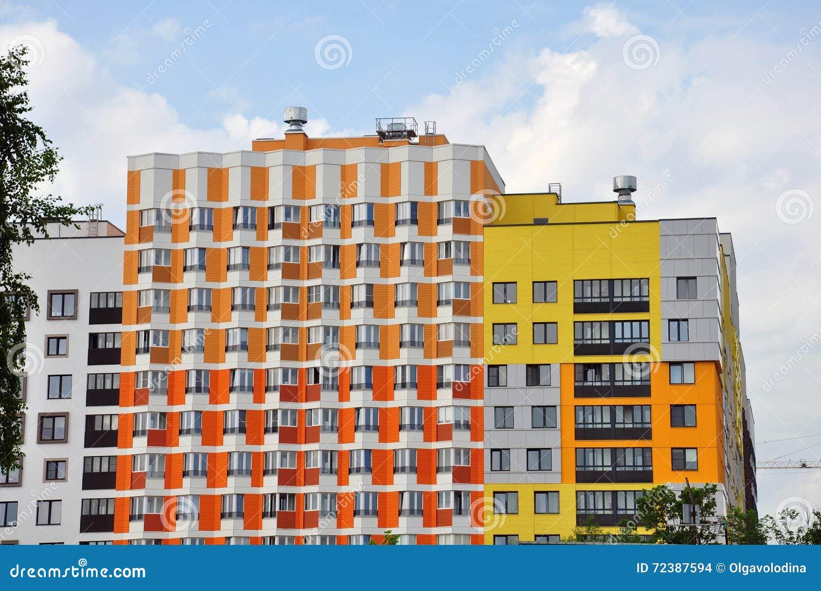 Nouvel immeuble moderne avec la belle couleur de fa ade for Facade immeuble moderne