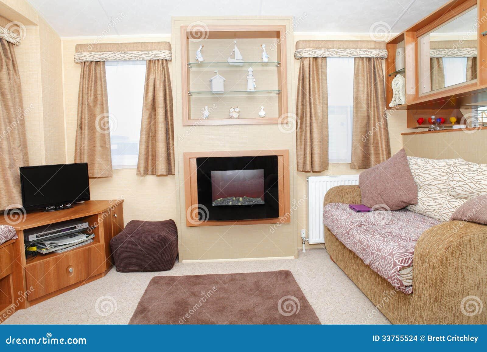 Nouvel int rieur la maison statique de caravane images stock image 33755524 - Nouvel an a la maison ...