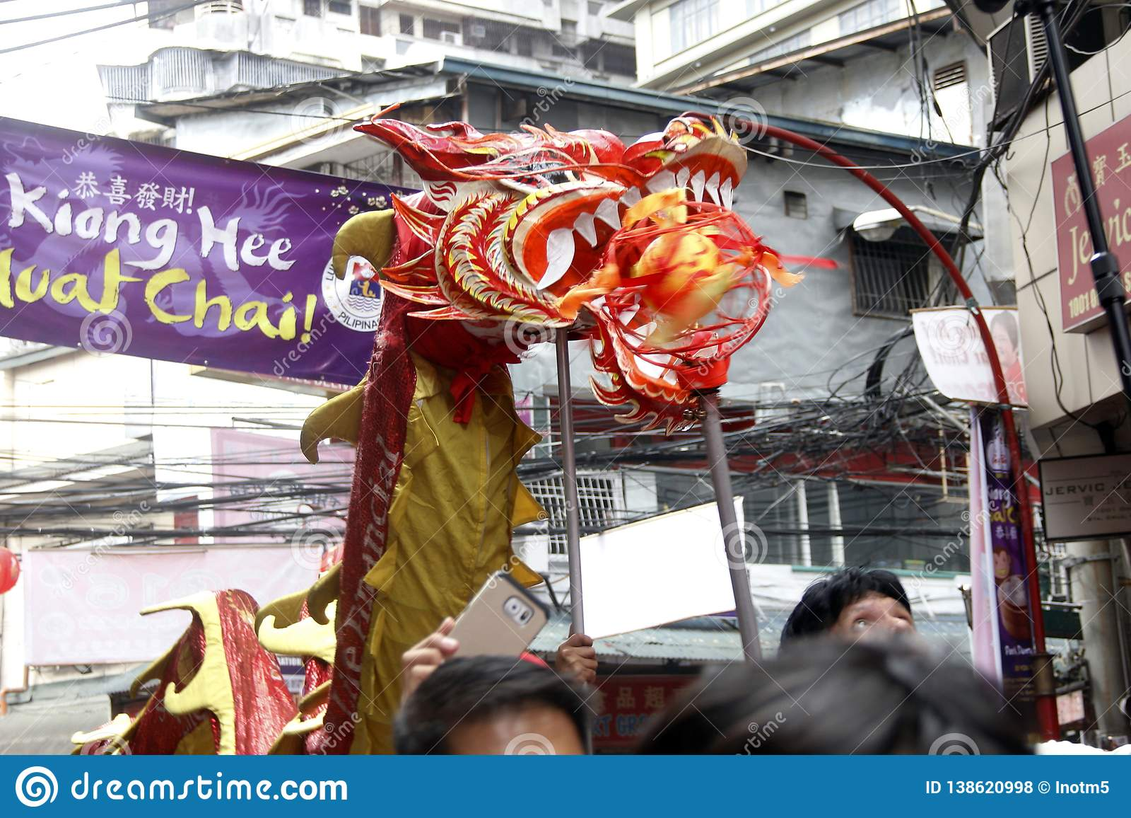 Nouvelle année chinoise à Manille Chinatown