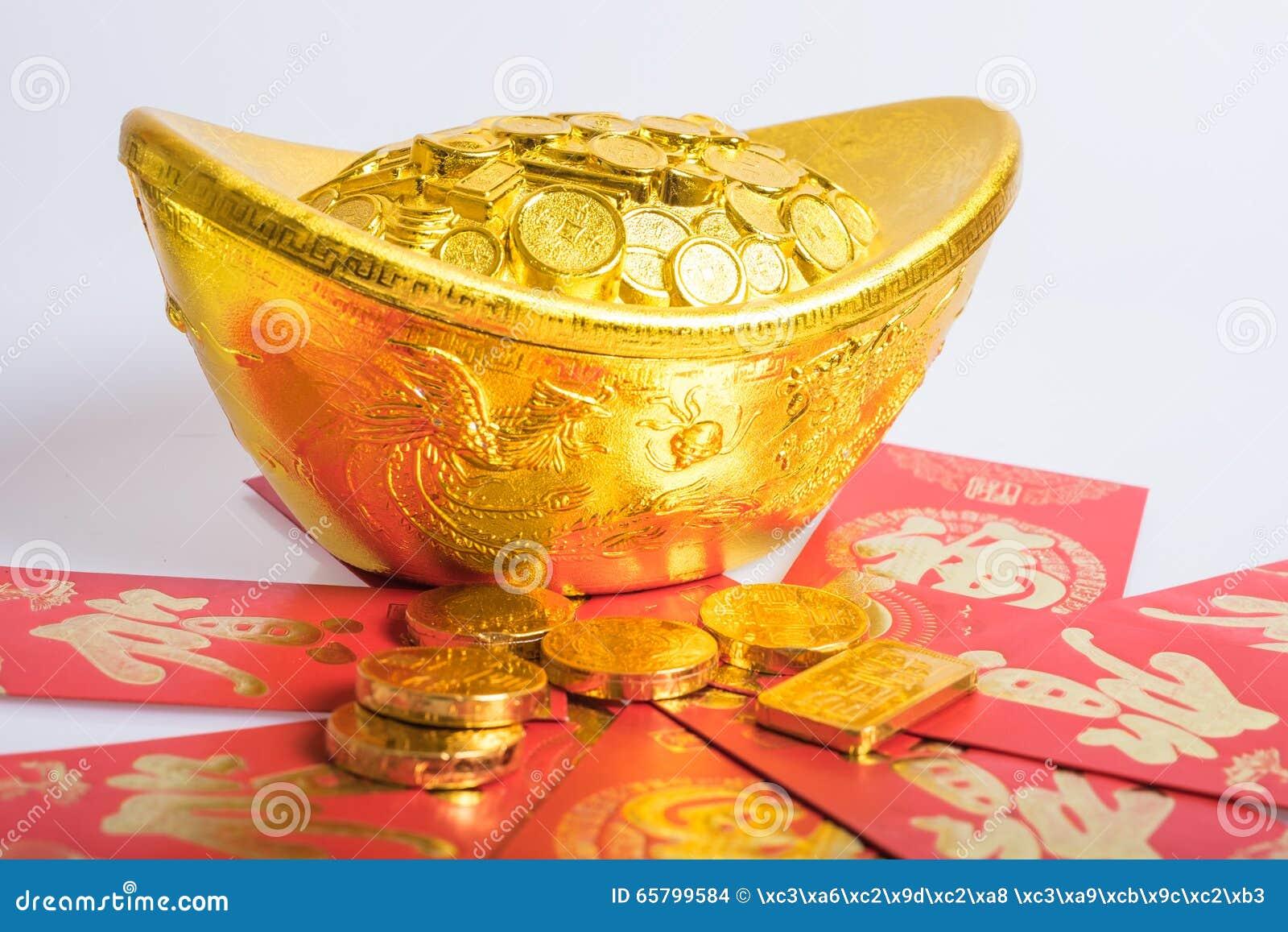 Nouvelle année chinoise, pièces d or