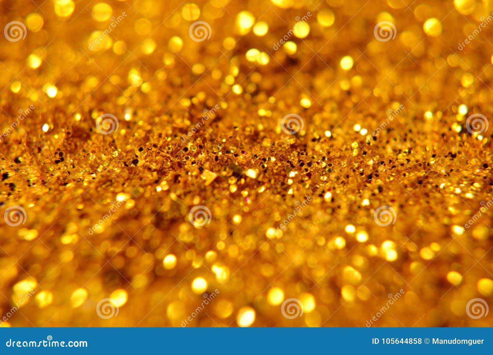 Nouvelle année de Noël et fond de scintillement d or Tissu abstrait de texture de vacances