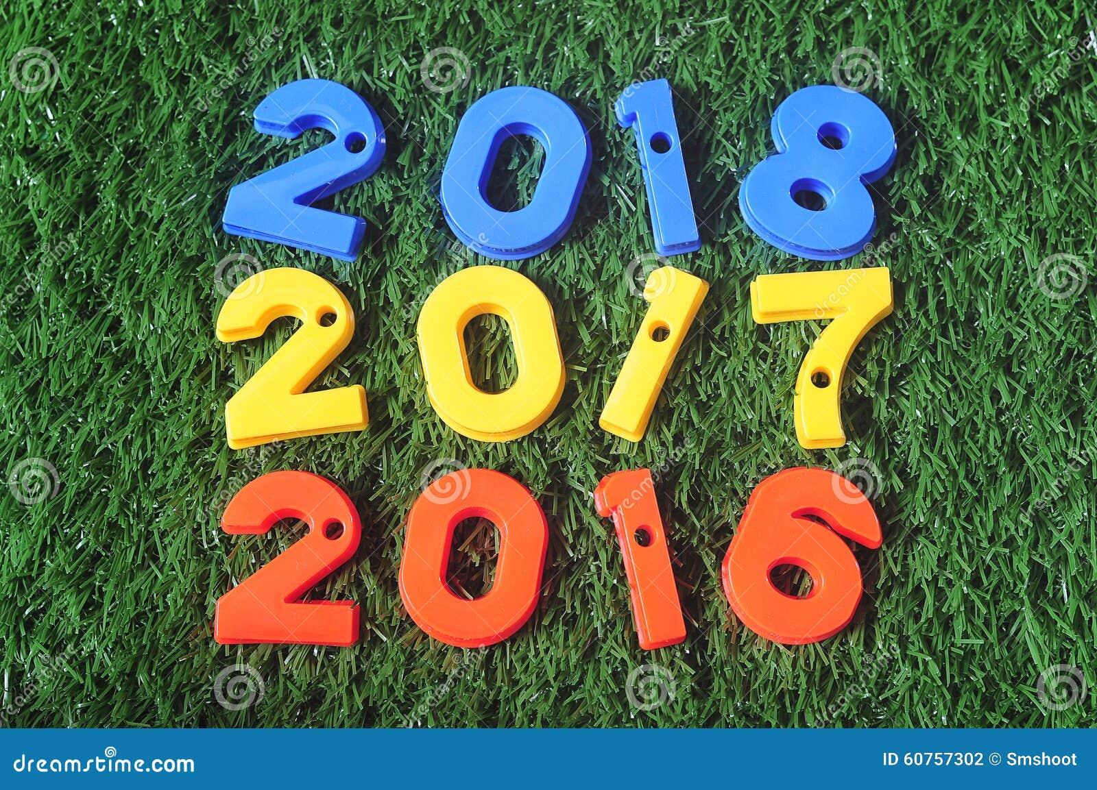Nouvelle ann e 2016 id e color e du nombre 2017 et 2018 photo stock image 60757302 - Idee nouvel an 2017 ...