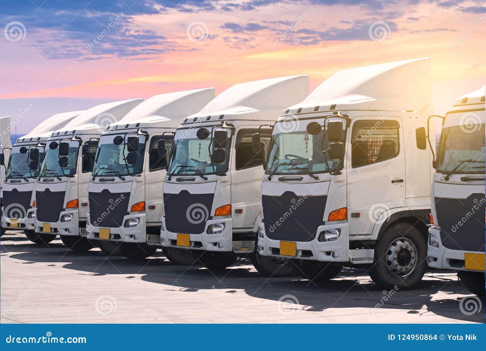 Nouvelle flotte de camion de transport à la cour
