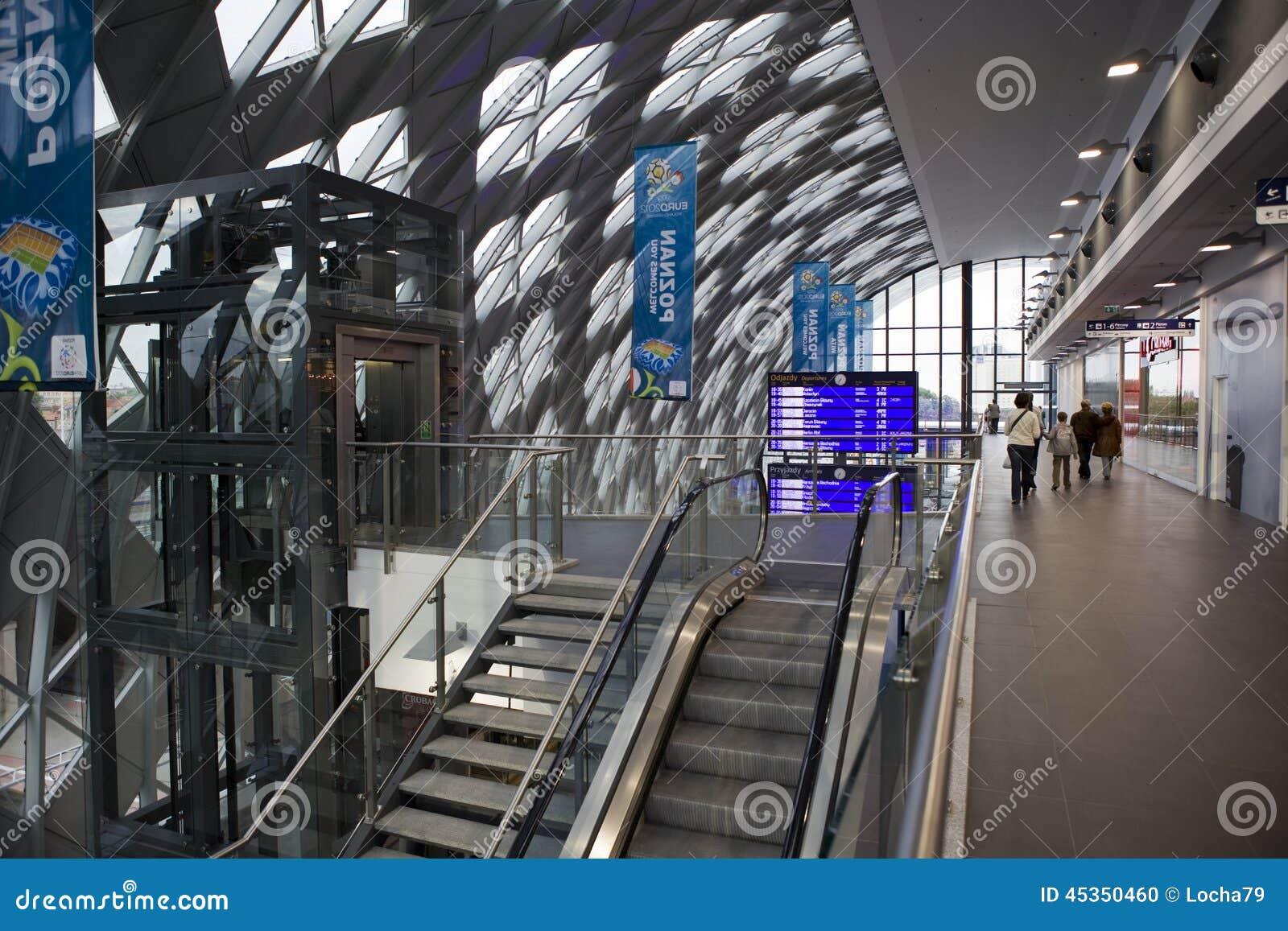Nouvelle gare ferroviaire à Poznan