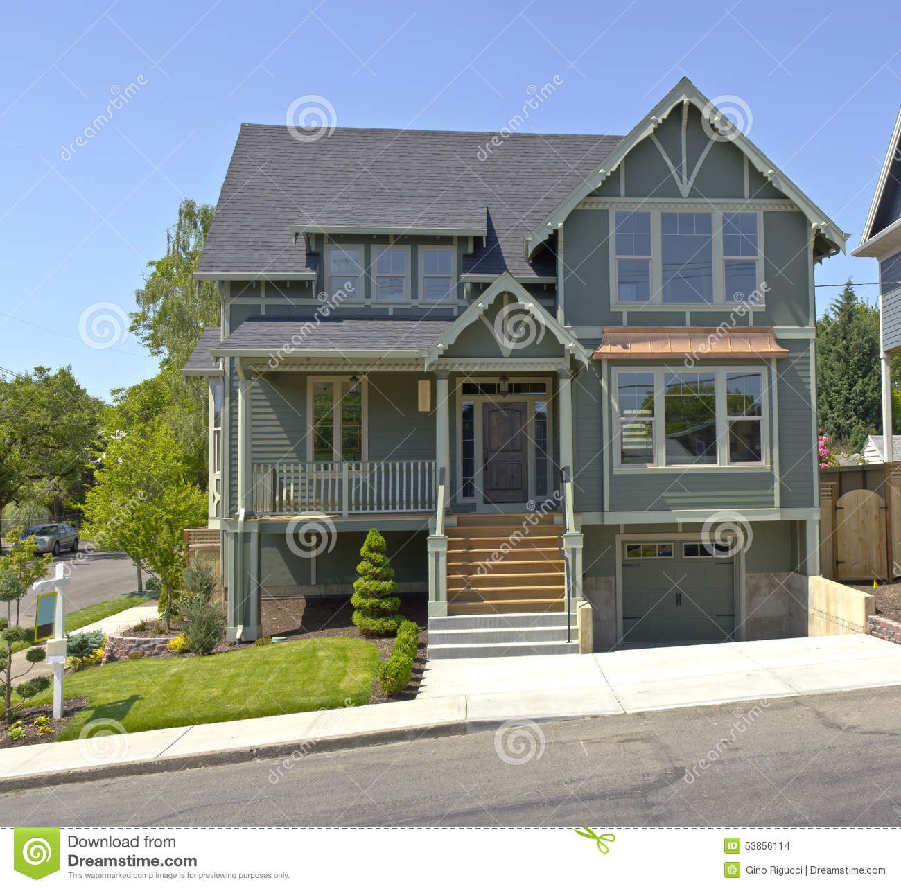 Nouvelle maison vendre portland or gon photo stock for Achat nouvelle maison