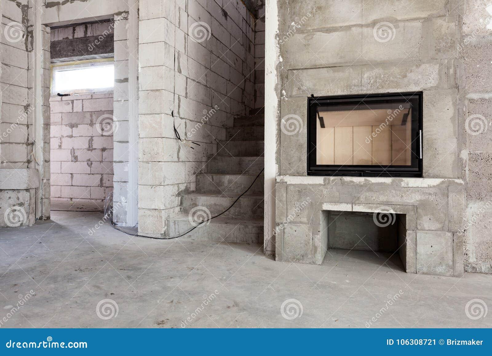 nouvelle maison en construction construction bois-mise le feu