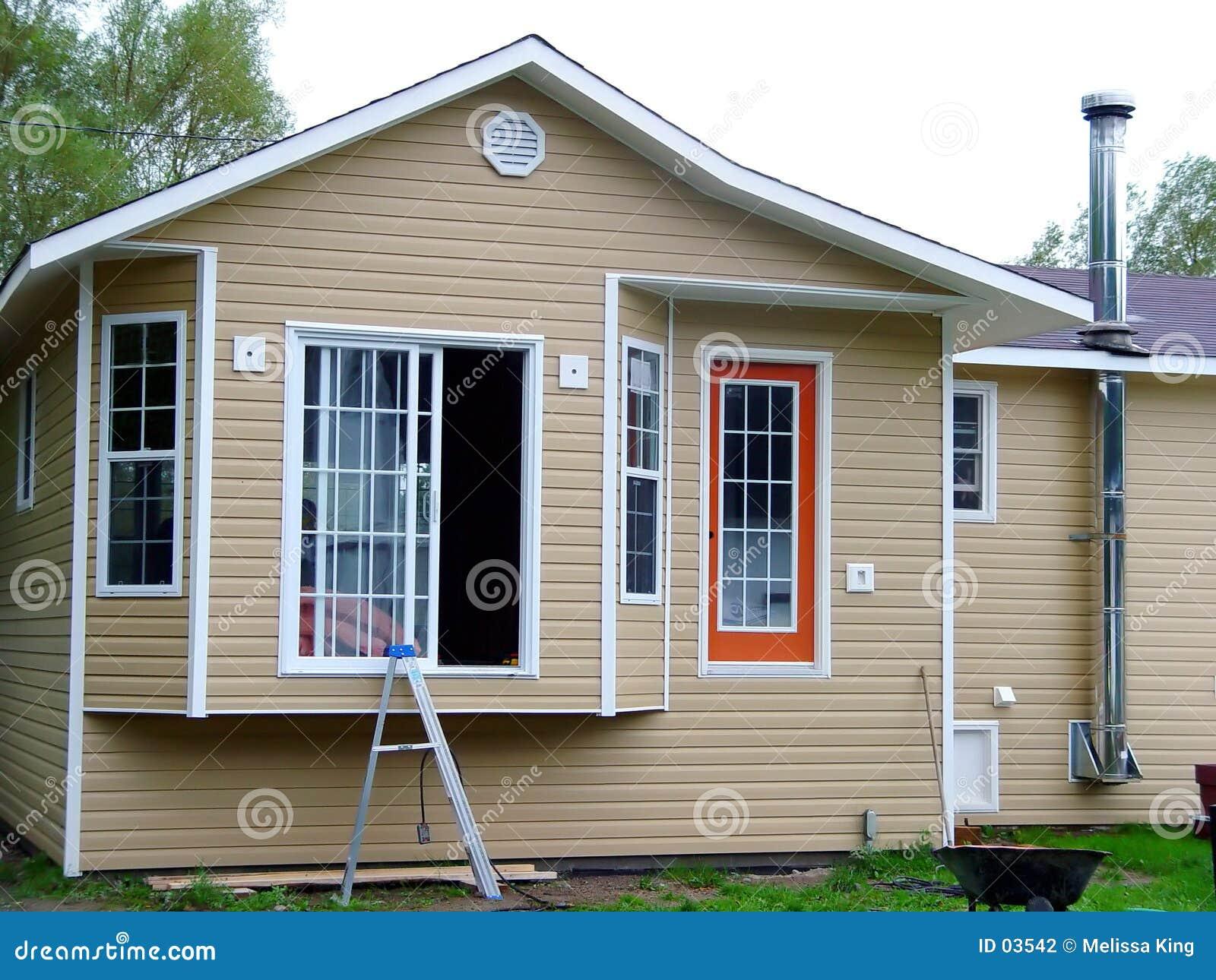 Nouvelle maison obtenant construite
