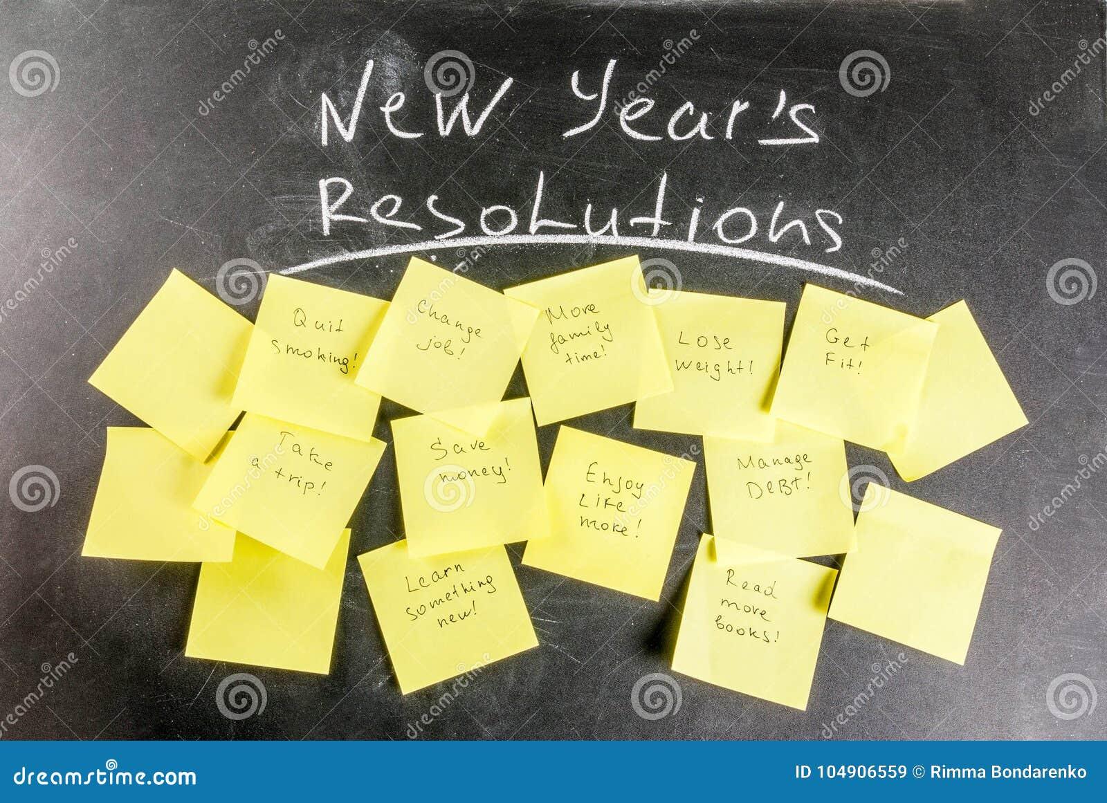 Nouvelles années de concept de résolutions