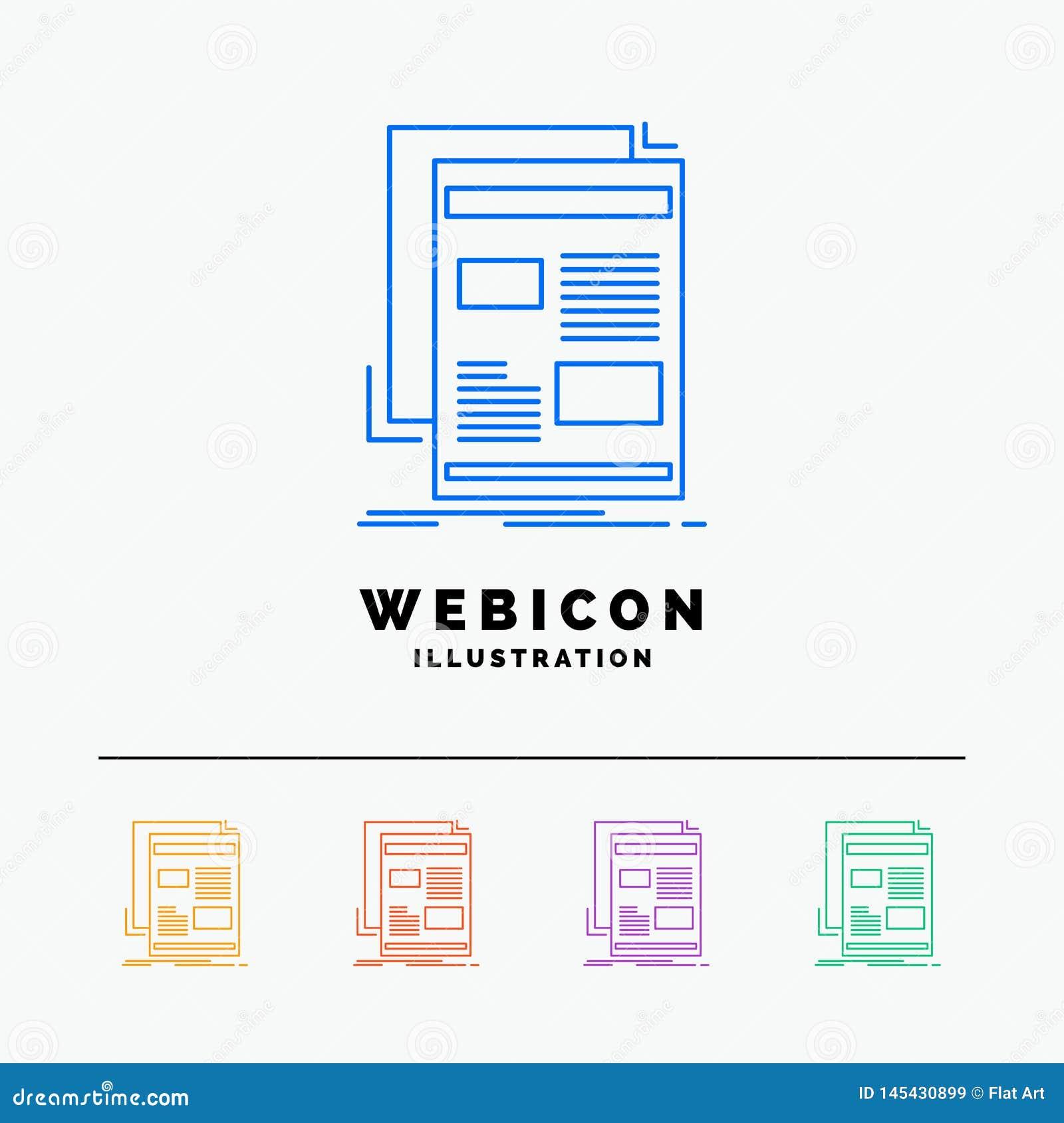 Nouvelles, bulletin d information, journal, milieu, discrimination raciale du papier 5 calibre d icône de Web d isolement sur le