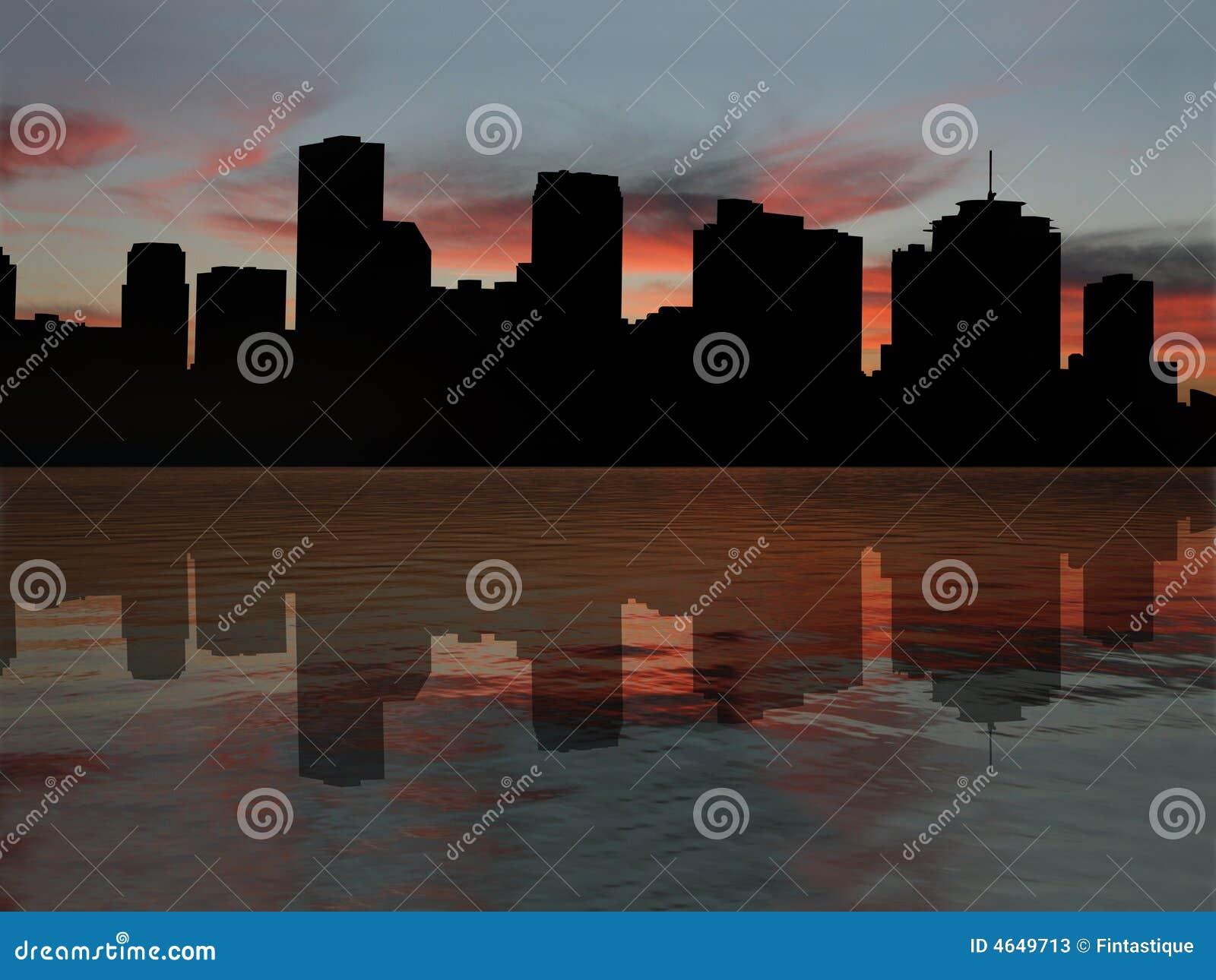 Nova Orleães no por do sol