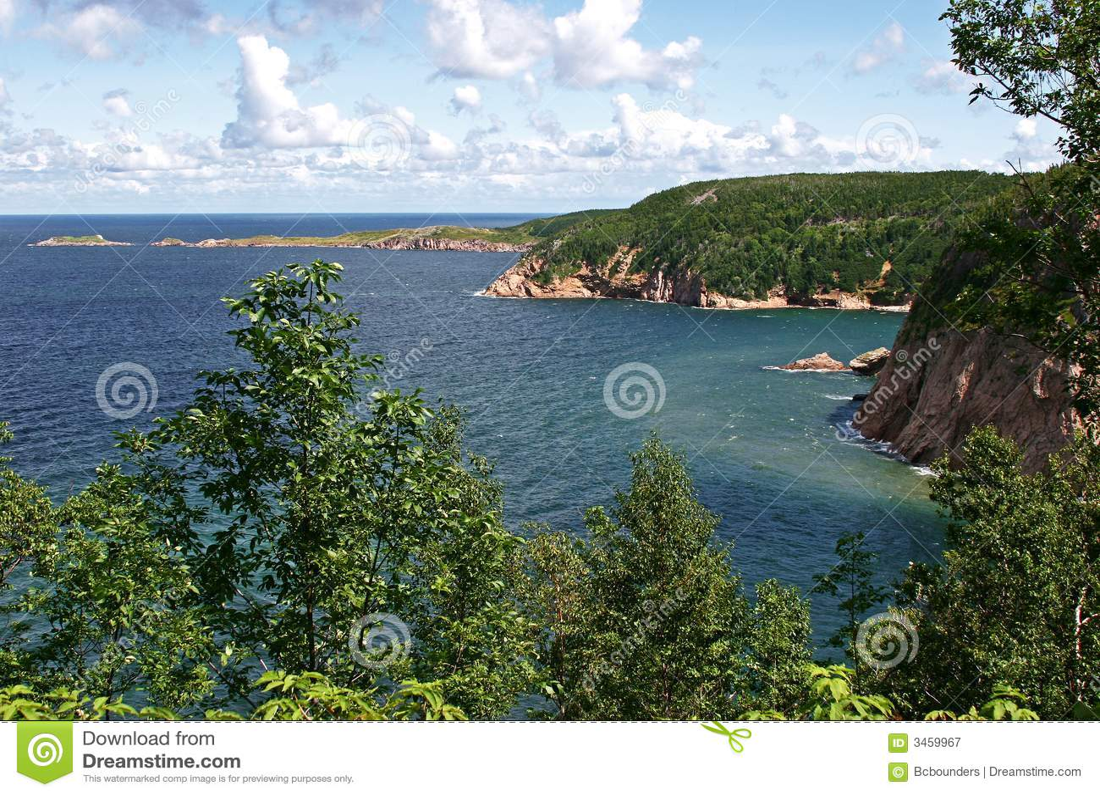 nova scotia coastline royalty free stock photography